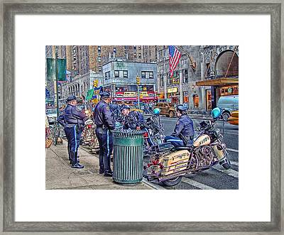 Nypd Highway Patrol Framed Print by Ron Shoshani