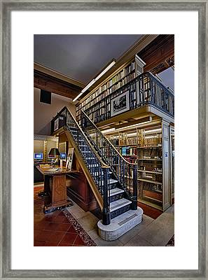 Nypl Genealogy Room  Framed Print by Susan Candelario
