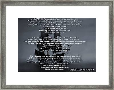 O Captain My Captain Framed Print by Dan Sproul