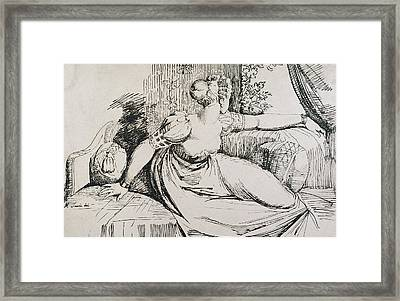O Evening Thou Bringest All Framed Print by Henry Fuseli