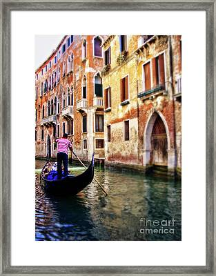 O Solo Mio Framed Print by Sylvia Cook