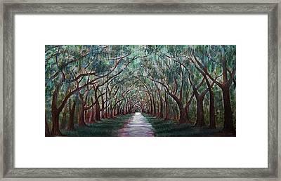 Oak Avenue Framed Print by Anastasiya Malakhova