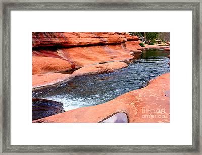 Oak Creek At Slide Rock Framed Print by Carol Groenen