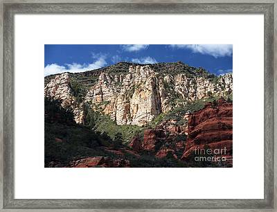 Oak Creek Canyon Framed Print by John Rizzuto