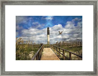 Oak Island Lighthouse Framed Print by Betsy Knapp