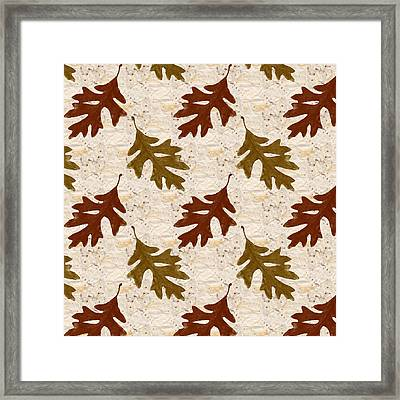 Oak Leaf Pattern Framed Print by Christina Rollo