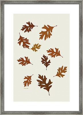 Oak Leaves Art Framed Print by Christina Rollo