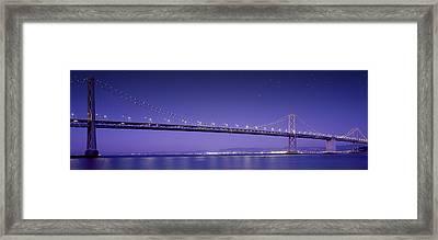 Oakland Bay Bridge Framed Print by Aged Pixel