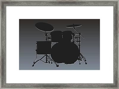 Oakland Raiders Drum Set Framed Print by Joe Hamilton