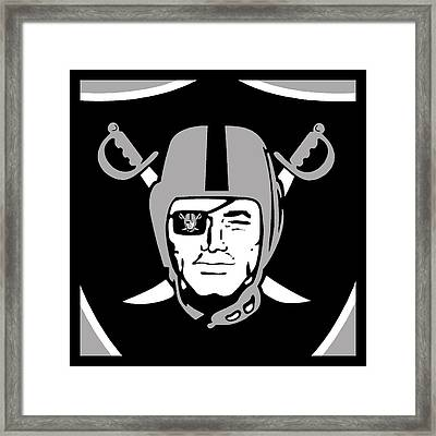 Oakland Raiders Framed Print by Tony Rubino