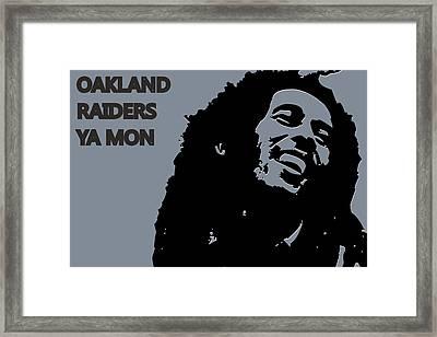 Oakland Raiders Ya Mon Framed Print by Joe Hamilton