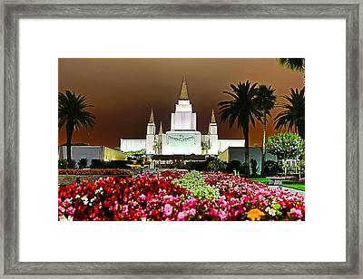 Oakland Temple 1 Framed Print by Alan Nix