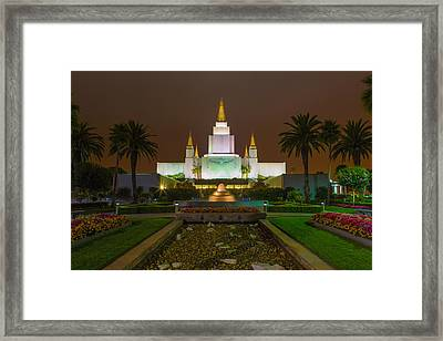 Oakland Temple 2 Framed Print by Alan Nix