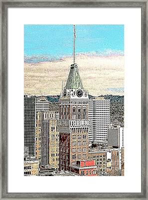 Oakland Tribune Building Oakland California 20130426 Framed Print by Wingsdomain Art and Photography