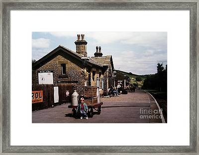 Oakworth Station Framed Print by Martin Howard