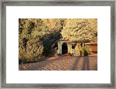 Oasis Tombouctou Framed Print by Sophie Vigneault