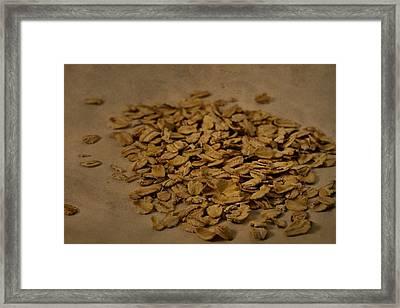 Oatmeal For Breakfast Framed Print by Dan Sproul