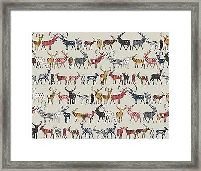 Oatmeal Spice Deer Framed Print by Sharon Turner