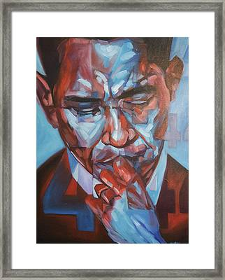 Obama 44 Framed Print by Steve Hunter