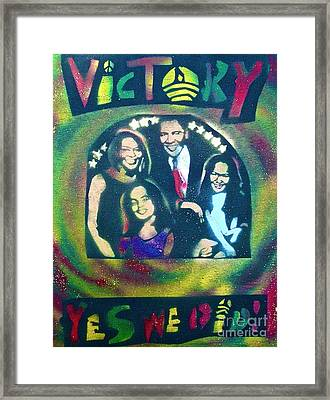 Obama Family Victory Framed Print by Tony B Conscious