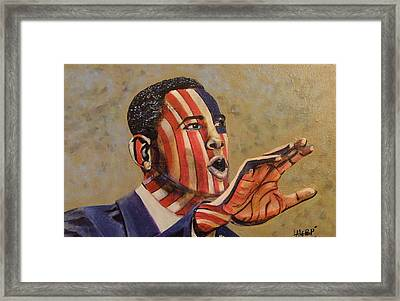 Obama...a State Of Mind Framed Print by James  Lalepop Becker