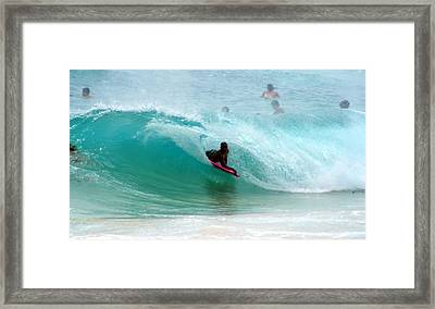 Obama's Boyhood Bodysurfing Beach Framed Print by Kevin Smith