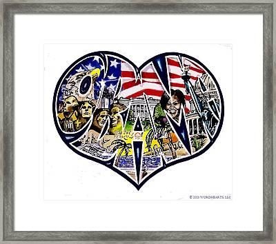 Obama's Presidency  Framed Print by Alexis Heath