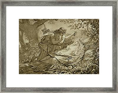 Oberon And Titania Framed Print by English School