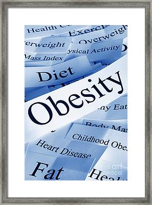 Obesity Concept Framed Print by Colin and Linda McKie