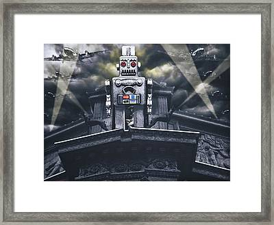 Obey Resistance Is Futile Framed Print by Larry Butterworth