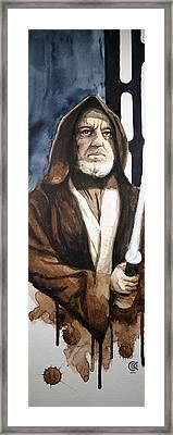 Obi Wan Kenobi Framed Print by David Kraig