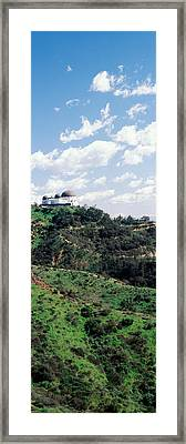 Observatory On A Hill, Griffith Park Framed Print by Panoramic Images