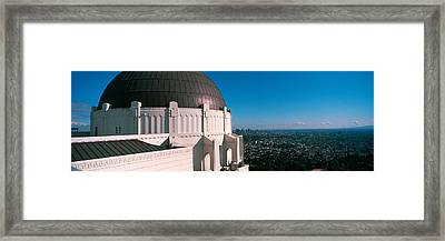 Observatory With Cityscape Framed Print by Panoramic Images
