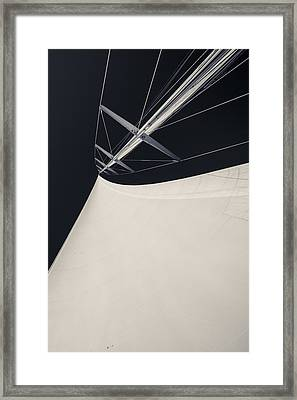 Obsession Sails 4 Black And White Framed Print by Scott Campbell