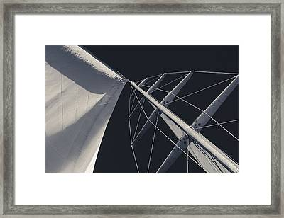 Obsession Sails 6 Black And White Framed Print by Scott Campbell