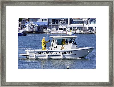 Oc Sheriff Ready For The Fire Framed Print by Shoal Hollingsworth