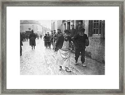 Occupied France In Wwi Framed Print by Underwood Archives
