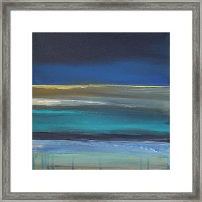 Ocean Blue 2 Framed Print by Linda Woods