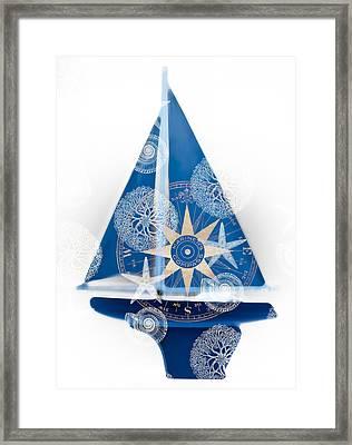 Ocean Blue Framed Print by Frank Tschakert