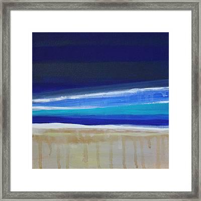 Ocean Blue Framed Print by Linda Woods
