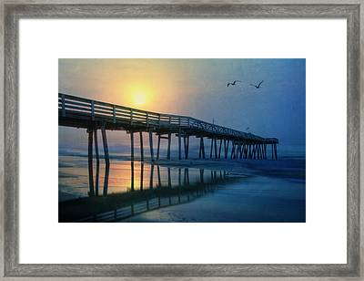 Ocean City Pier Framed Print by Lori Deiter