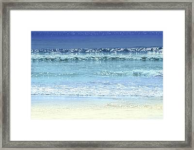 Ocean Colors Abstract Framed Print by Elena Elisseeva