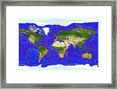 Ocean Currents Framed Print by Carol & Mike Werner