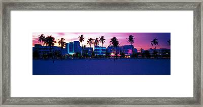 Ocean Drive Miami Beach Fl Usa Framed Print by Panoramic Images