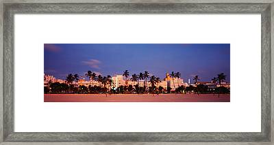 Ocean Drive South Beach Miami Beach Fl Framed Print by Panoramic Images