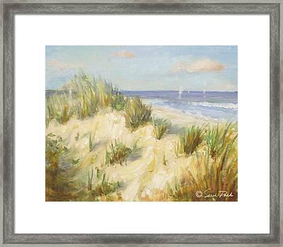 Ocean Dunes Framed Print by Sarah Parks
