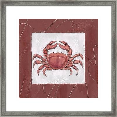 Ocean Finest-marsala Pantone 18-1438 Framed Print by Lourry Legarde