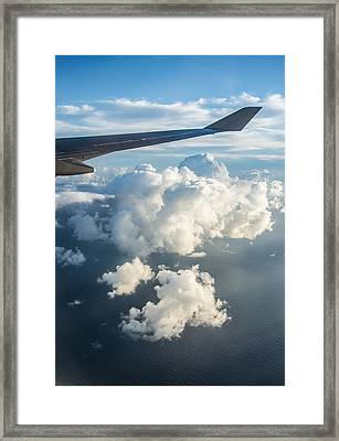 Ocean From The Sky Framed Print by Parker Cunningham