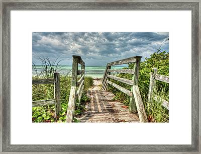 Ocean Invitation Framed Print by Gary Oliver
