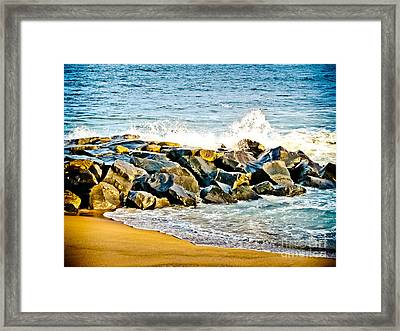 Ocean Jetty Framed Print by Colleen Kammerer